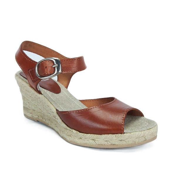 SKA BETTY V5N Tan Espadrille Strapy Wedge Sandals