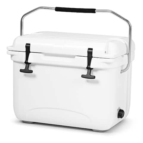 Costway 22 Quart Cooler Portable Ice Chest Leak-Proof 30 Cans Ice Box