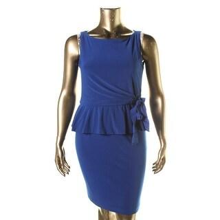 Taylor Womens Peplum Sleeveless Wear to Work Dress - 14