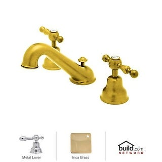 Rohl AC102L-2 Cisal Widespread Bathroom Faucet with Ornate Metal Lever Handles a