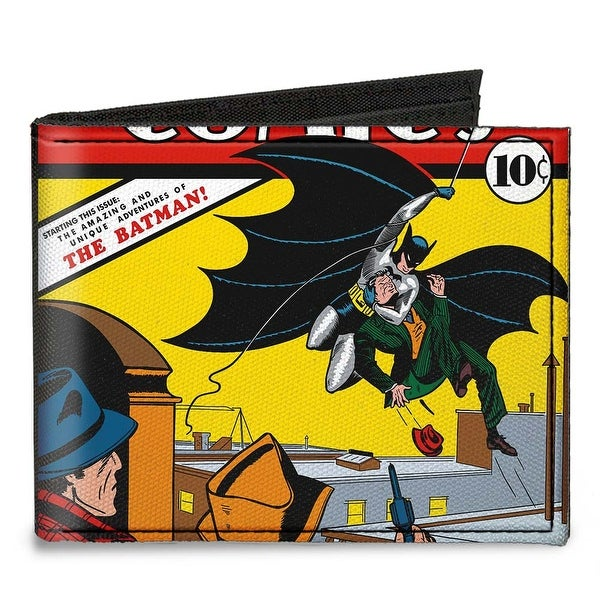 Classic Detective Comics Issue #27 First Batman Action Cover Pose Canvas Bi Canvas Bi-Fold Wallet One Size - One Size Fits most