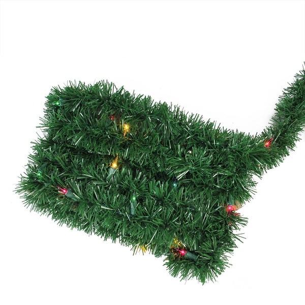 "12' x 2.5"" Pre-Lit Green Pine Artificial Christmas Garland - Multi Lights"