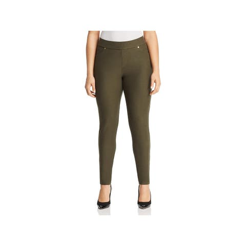 MICHAEL Michael Kors Womens Plus Ankle Pants Casual Pull On
