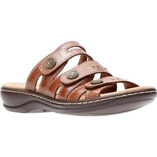60164898d969 Shop Clarks Women s Leisa Lakia Slide Sandal Dark Tan Full Grain Leather -  Free Shipping Today - Overstock - 20592434