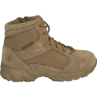 "Smith & Wesson Men's Breach 2.0 6"" Side Zip Boot Coyote Suede/Nylon"