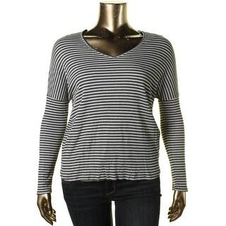 One Clothing Womens Juniors Hi-Low Long Sleeves Thermal Top