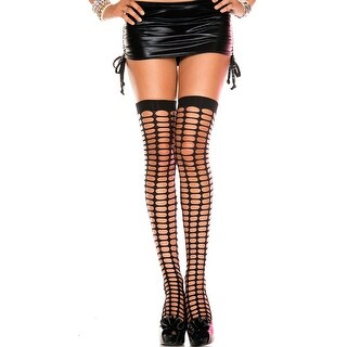Oval Netted Thigh Highs, Sheer Thigh High Stockings