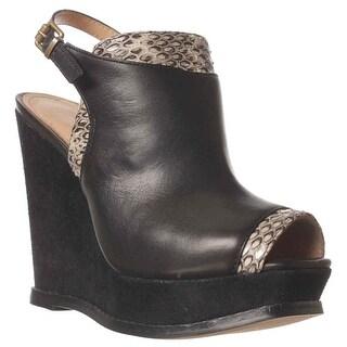Kenneth Cole Creme Fillings Wedge Pump Heels - Black