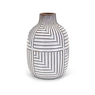 IMAX Home 13677  Ella Medium Terracotta Vase - White