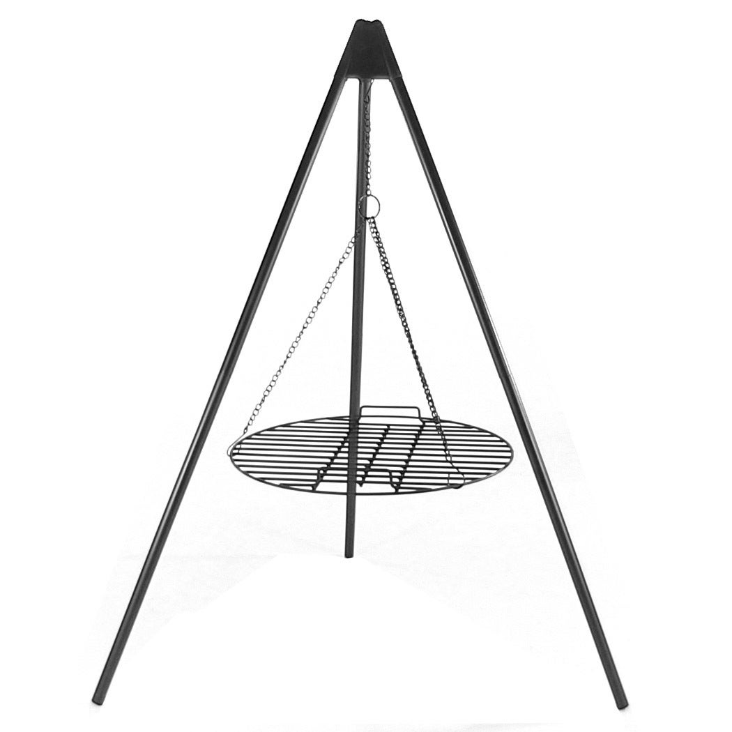 Sunnydaze Tripod Grilling Set with Cooking Grate - Black - Thumbnail 6