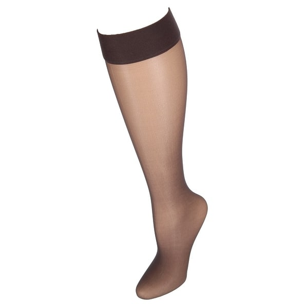 124bcb0f1 Shop Hanes Silk Reflections Run Resistant Sheer Knee Highs (2 Pair ...