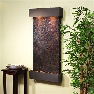 Adagio Whispering Creek Fountain w/ Rajah Natural Slate in Antique Bronze Finish