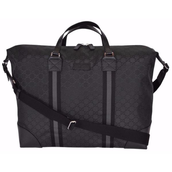 3530e93e7865 Shop Gucci 449180 Black Nylon GG Guccissima XL Travel Duffle Luggage ...