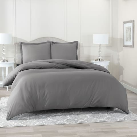 Nestl Ultra Soft Double Brushed Microfiber Duvet Cover Set with Button Closure