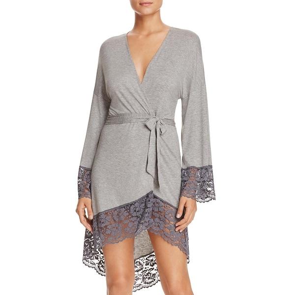 0709a5f688 Shop Cosabella Womens Nouveau Kimono Robe Heathered Lace-Trim - L ...