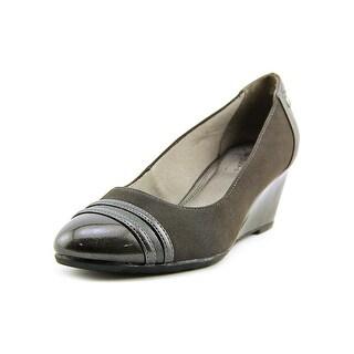 Life Stride Juliana Women Open Toe Synthetic Gray Wedge Heel