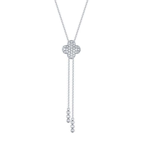 Prism Jewel 0.35Ct Round G-H/I1 Natural Diamond Lariat Necklace with Chain