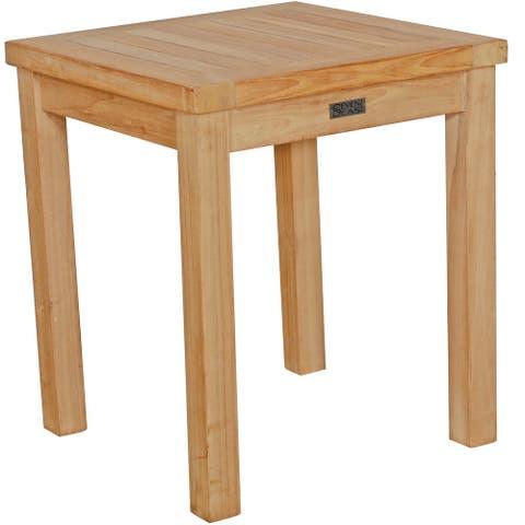 Seven Seas Teak Santa Monica Outdoor Teak Wood Patio End Table