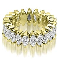 14kt Yellow Gold 2.88 ct.tw Marquise Diamond Eternity Ring HI, SI1-2
