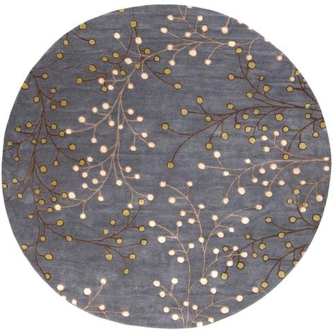 Sakura Handmade Transitional Floral Wool Area Rug