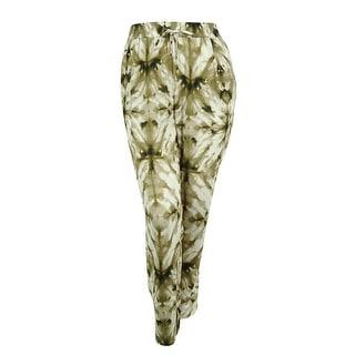 Calvin Klein Women's Tie-Dye Straight Leg Pants - 1x