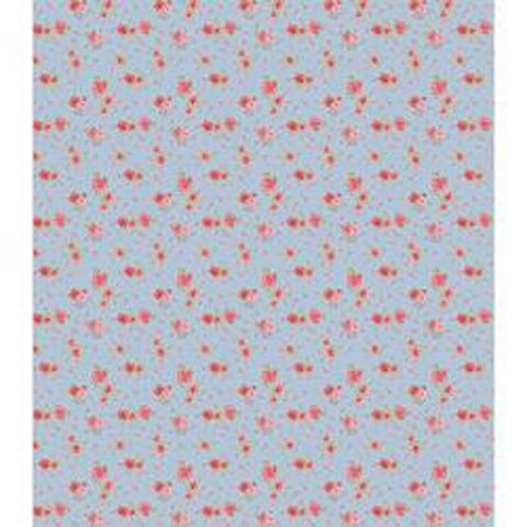 "Antique Rose Blue - Craft Consortium Decoupage Papers 13.75""X15.75"" 3/Pkg"