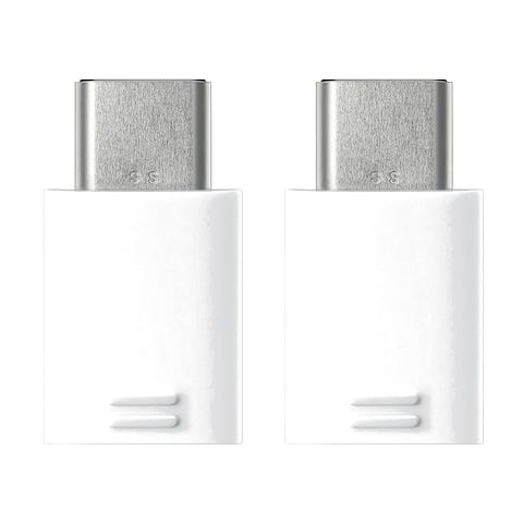 Samsung USB Type-C to Micro USB Adapter - White (2 Pack)