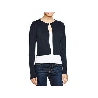 T Tahari Womens Avital Cardigan Sweater Knit Cropped