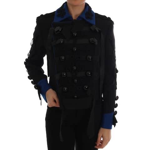 Dolce & Gabbana Black Wool Trench Women's Jacket - it40-s