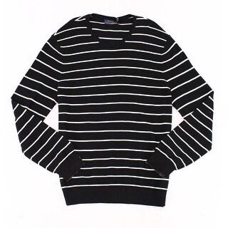 Polo Ralph Lauren NEW Black White Mens Size XL V-Neck Stripe Sweater