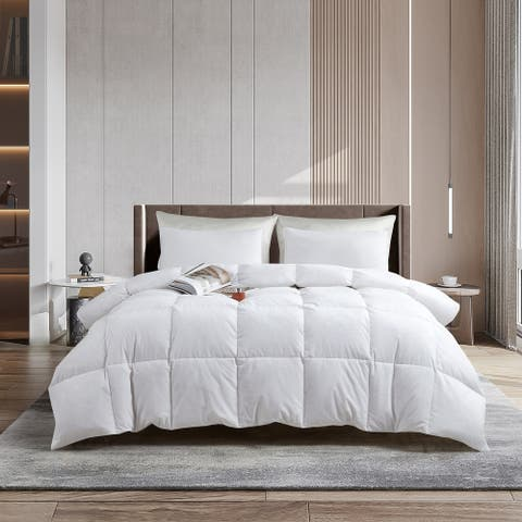 Serta Tencel White Feather and Down Comforter