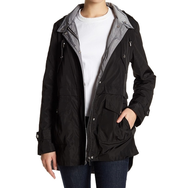 fb39d7fa7 French Connection Womens Jacket Black Size Small S Water-Resistant