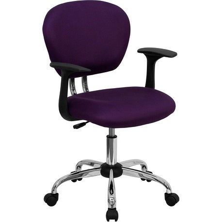 Brielle Mid-Back Purple Mesh Swivel Home/Office Task Chair w/Arms