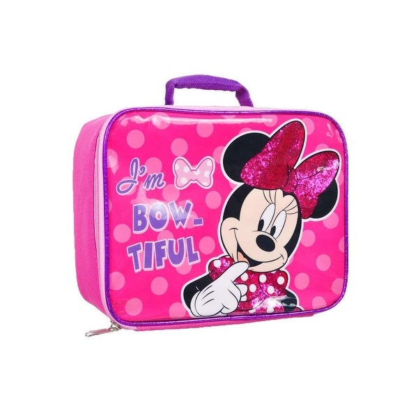 73e01df07ff Shop Girls Minnie Mouse Sparkle Lunchbag - Free Shipping On Orders Over  45  - Overstock - 26268070