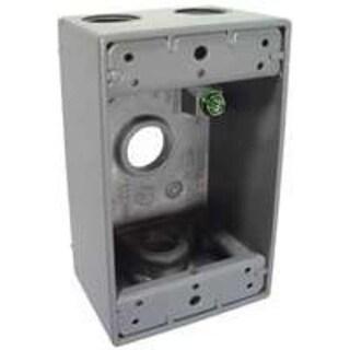Bell 5321-0 Outlet Box, Aluminum, Gray, 1 Gang