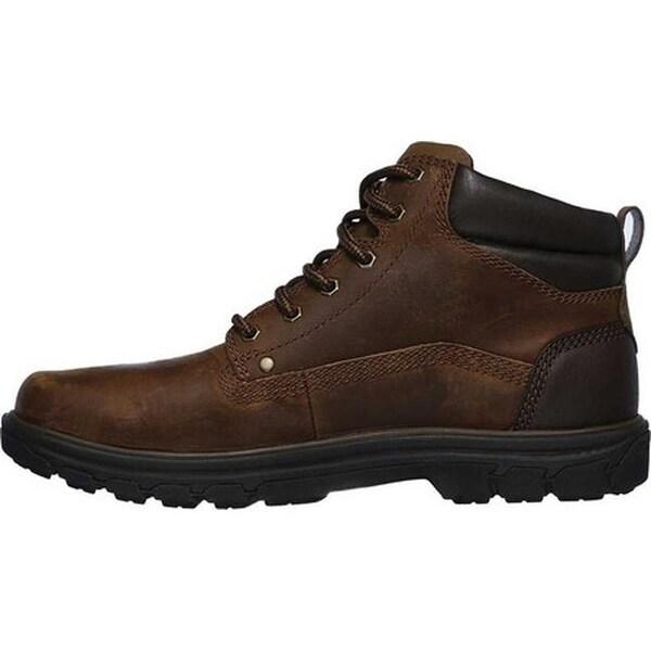 Shop Skechers Men's Relaxed Fit Segment Garnet Boot Dark