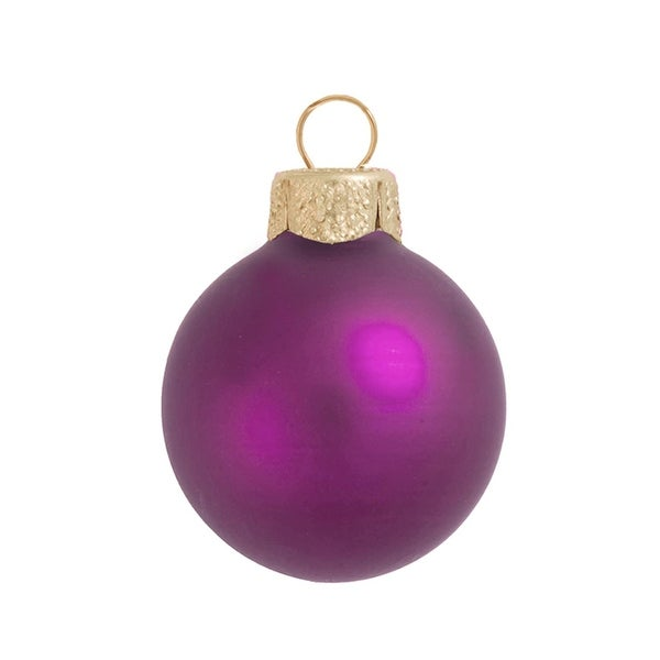 "28ct Matte Soft Rose Pink Glass Ball Christmas Ornaments 2"" (50mm)"