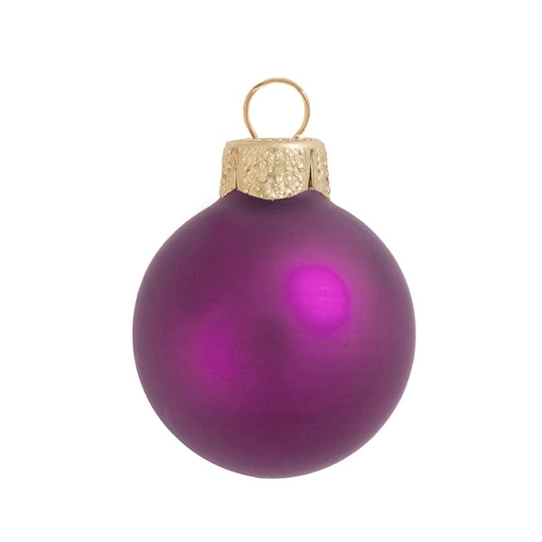 "40ct Matte Soft Rose Pink Glass Ball Christmas Ornaments 1.25"" (30mm)"