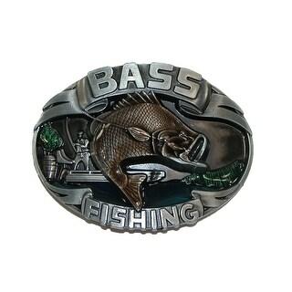 CTM® Bass Fishing Belt Buckle - bass fish - One Size
