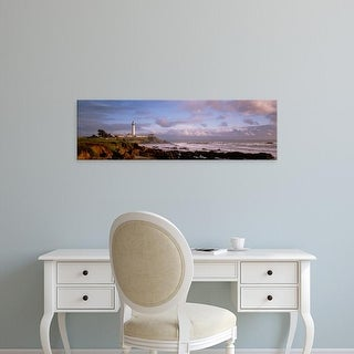 Easy Art Prints Panoramic Image 'Lighthouse on the waterfront, Pigeon Point Lighthouse, California, USA' Canvas Art