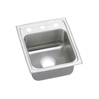 Elkay PSR1517MR2 Gourmet Single Basin Drop-In Stainless Steel Bar Sink