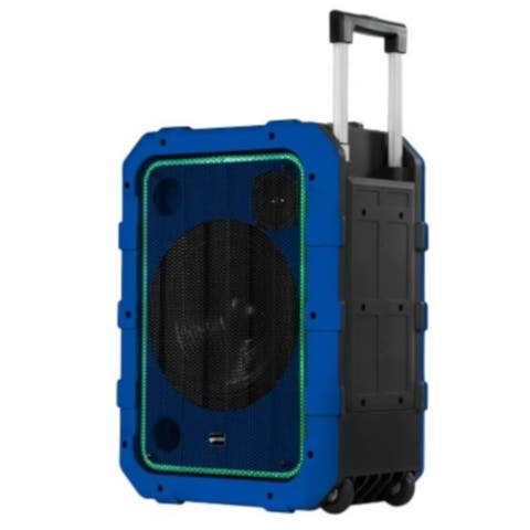 Gemini rechargeable weather and IPX4 water resistant trolley Bluetooth speaker