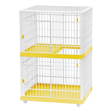2-Tier Cat Cage in Yellow