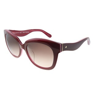 Link to Kate Spade Low Bridge Fit KS Amberly/F/S OFH Womens Red Frame Brown Gradient Lens Sunglasses Similar Items in Women's Sunglasses