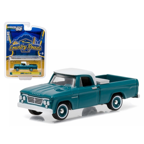 baf0ddababe4 1963 Dodge D-100 with Toolbox Pickup Truck Country Roads Series 14 1/64  Diecast Model by Greenlight