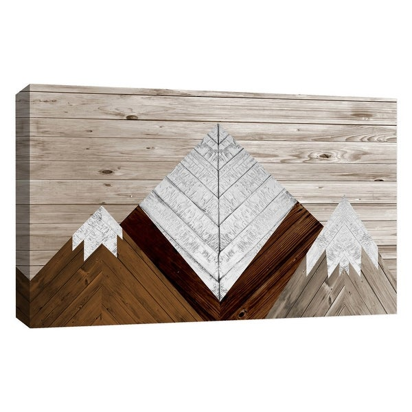 "PTM Images 9-126767 PTM Canvas Collection 10"" x 8"" - ""Wood Mountains"" Giclee Mountains Art Print on Canvas"