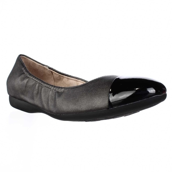naturalizer Campo Toe Cap Stretch Ballet Flats, Steel