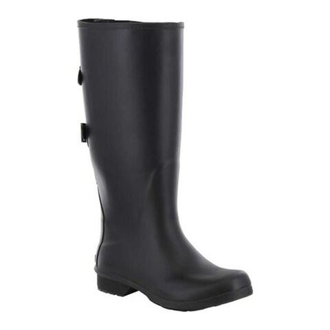 Chooka Women's Versa Wide Rain Boot Black