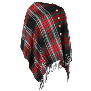Top it off Women's 3-In-1 Plaid Wrap Shawl Scarf - One size
