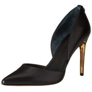 Calvin Klein Womens Sebrina Leather Pointed Toe D-orsay Pumps